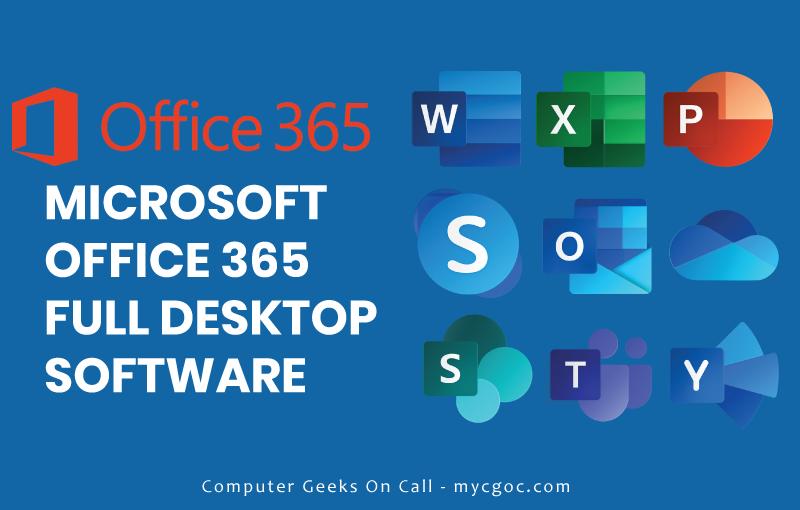 microsoft office 365 desktop software banner